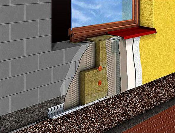Нанесение декоративной штукатурки валиком на фасад